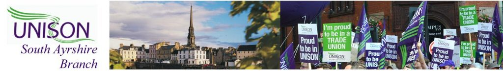 UNISON South Ayrshire Banner